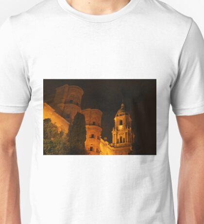 Malaga Cathedral at Night Unisex T-Shirt