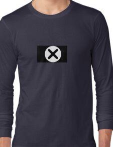 Cross in Circle , Black Long Sleeve T-Shirt