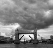 Storm brewing above Tower Bridge by Stephen Heliczer