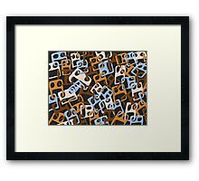 Approximative Faces KS39 Framed Print