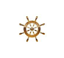 Nautical Wheel by SandraWidner
