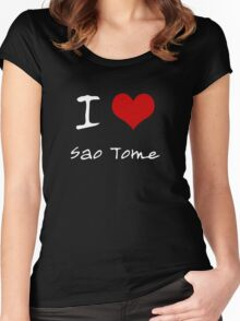 I love Heart Sao Tome Women's Fitted Scoop T-Shirt