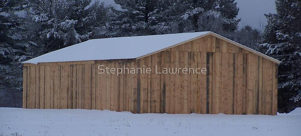 Winter Barn, Color by Stephanie Lawrence