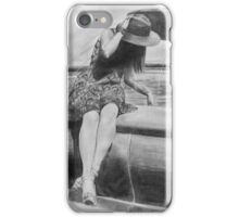 Sitting by the Fountain iPhone Case/Skin