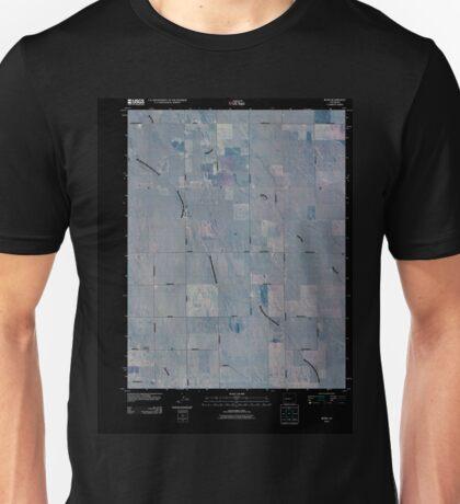 USGS TOPO Map Colorado CO Rush 20100807 TM Inverted Unisex T-Shirt