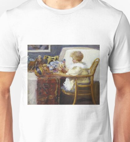 Frederick William Mac Monnies - Baby Berthe In A High Chair With Toys Unisex T-Shirt