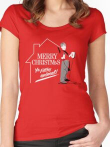Merry Christmas Ya Filthy Animal! Women's Fitted Scoop T-Shirt