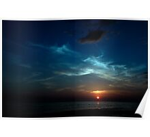 blue sunset Poster