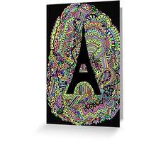 Paris: Screaming Colour Greeting Card
