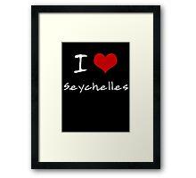 I love Heart Seychelles Framed Print