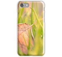 Fallen Leaf in Natural Grass Left iPhone Case/Skin