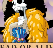 One Piece - Wanted Poster - Brook Sticker