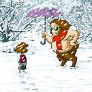 Meeting in the snow by Ikrus