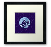 Darth vader  R2D2 NOT WAR Framed Print