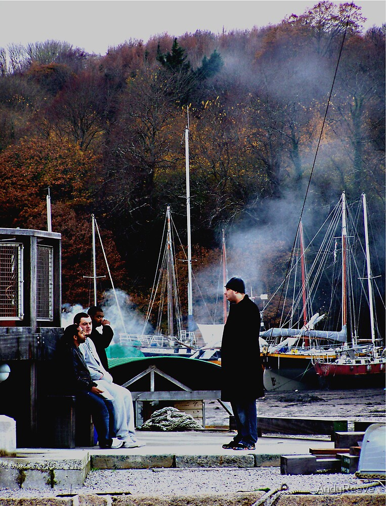 Conversation on the Dockside by AndyReeve