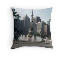 Fountain Statue Throw Pillow