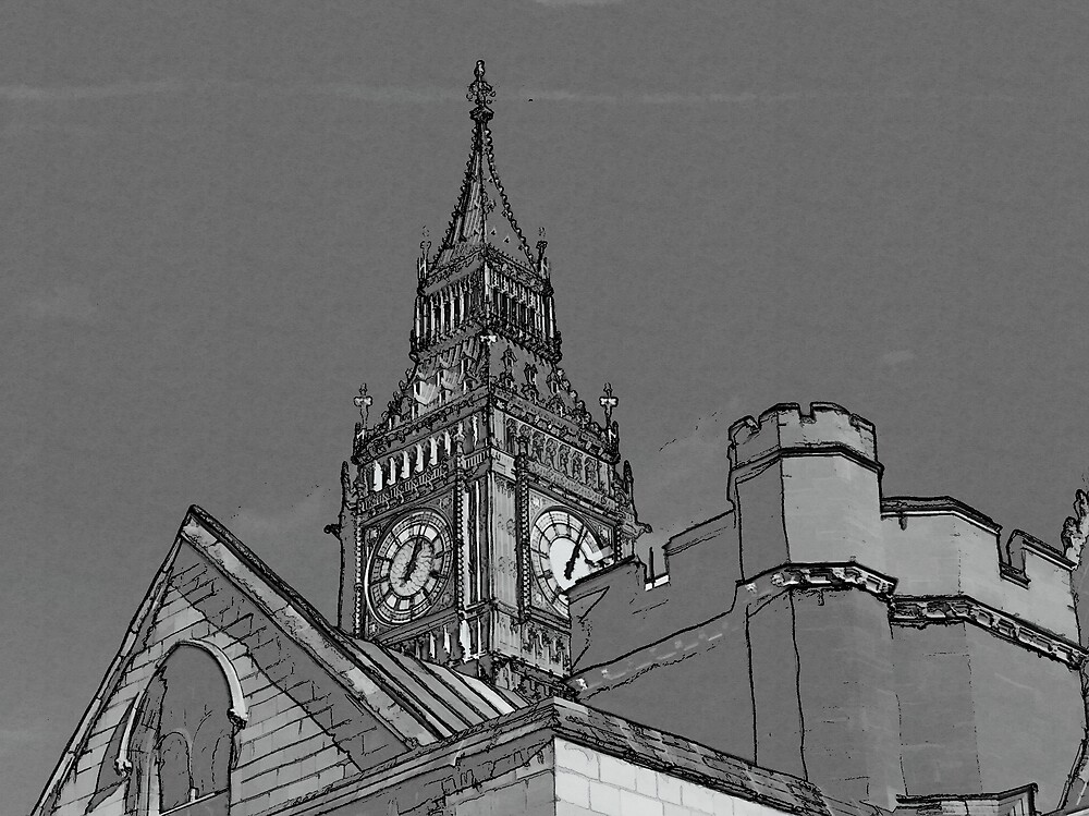 Big Ben Etched by mmrich