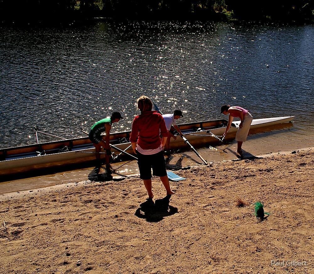 The helper - Riverway Rowing Club by Paul Gilbert