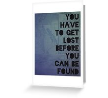 Lost and Found Greeting Card