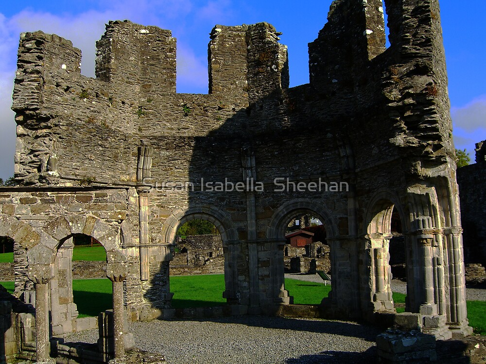 Old Mellifont Abbey by Susan Isabella  Sheehan
