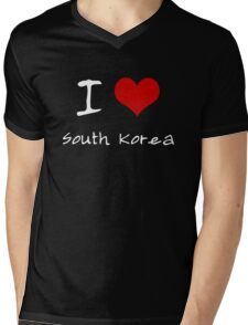 I love Heart South Korea Mens V-Neck T-Shirt