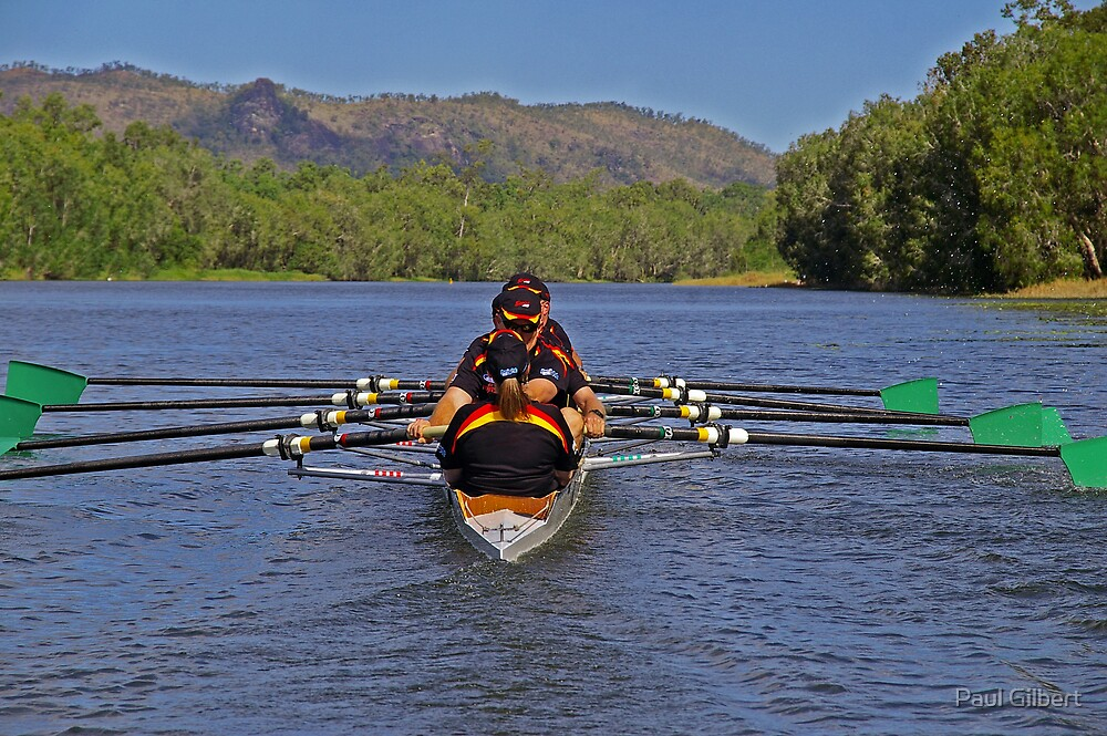 Near symmetry - Riverway Rowing Club by Paul Gilbert