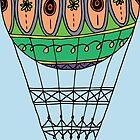 Hot Air Balloon by Ruta Rudminaite