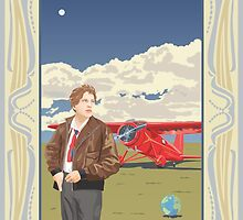 Amelia Earhart - Pioneer Aviator by contourcreative