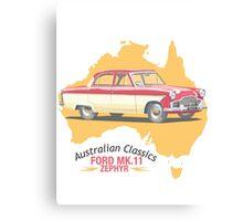 Ford Mark 2 Zephyr-Classic Australian Cars Canvas Print
