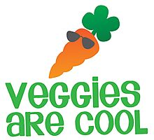 Veggies are COOL! with a carrot Photographic Print