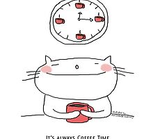 It's always coffee time / Cat doodle by eyecreate