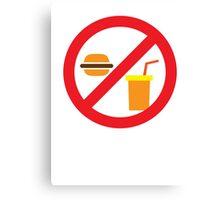 NO FOOD or DRINK hamburger and soft drink Canvas Print