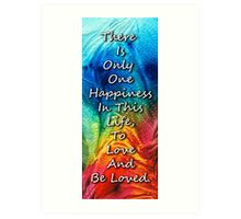 Love Art - To Be Loved - By Sharon Cummings Art Print