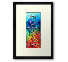 Love Art - To Be Loved - By Sharon Cummings Framed Print