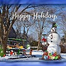 Happy Holidays (country style) by Nancy Richard