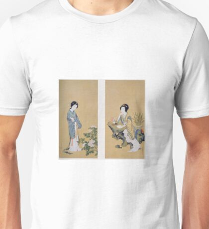 Genki - Yanji With Orchids And Yang Guifei With Peonies Unisex T-Shirt