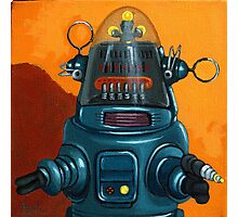 Forbidden Planet - robot painting Photographic Print