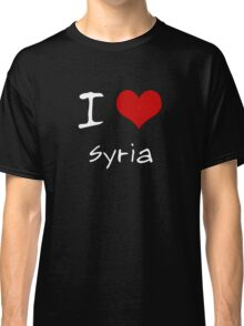 I love Heart Syria Classic T-Shirt