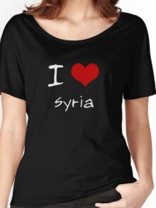 I love Heart Syria Women's Relaxed Fit T-Shirt