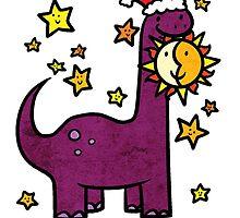 Christmas Dinosaur Brontosaurus by Brikit