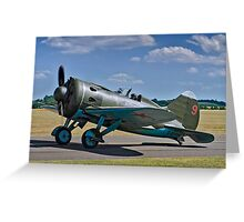 "Polikarpov I-16 ""Rata"" D-EPRN red 9 Greeting Card"