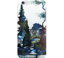 Watercolor Forest and Pond iPhone Case/Skin