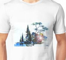 Watercolor Forest and Pond Unisex T-Shirt