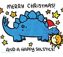 Christmas Dinosaur Stegosaurus by Brikit