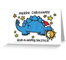 Christmas Dinosaur Stegosaurus Greeting Card