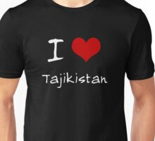 I love Heart Tajikistan Unisex T-Shirt