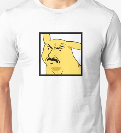 Yellow mouse with moustache Unisex T-Shirt
