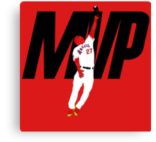 "Mike Trout ""MVP"" Canvas Print"