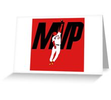 "Mike Trout ""MVP"" Greeting Card"