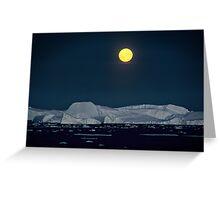 Antarctic Moonrise Greeting Card